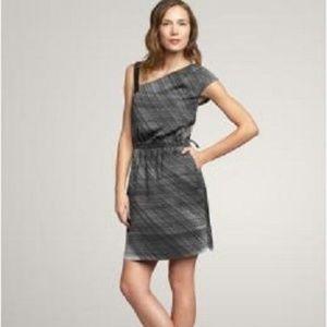 GAP Black & White Asymmetrical Bodice Dress 6
